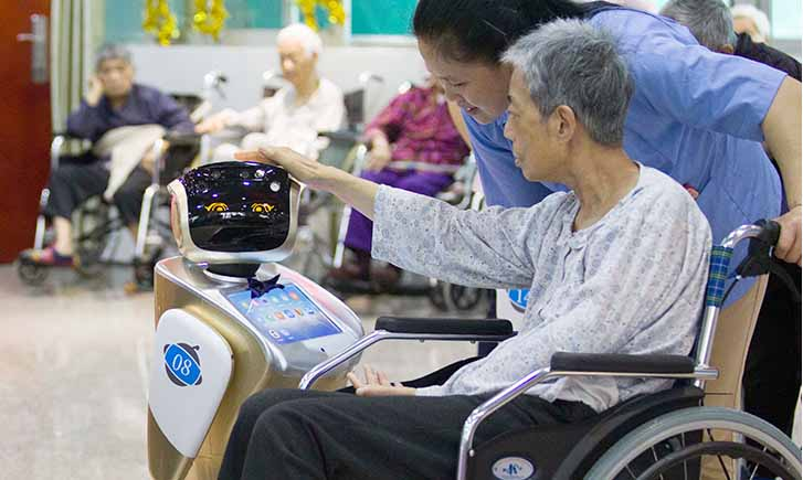 robot caregiver, nursing home robot, care robot for aging population