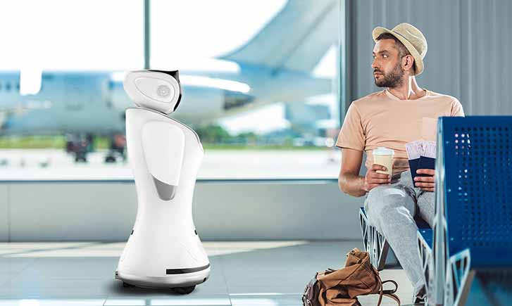 airport robot, aviation service robot, robot for airport service
