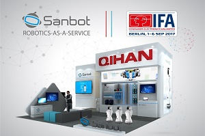 Come to enjoy the retail services by Sanbot robot at IFA Expo